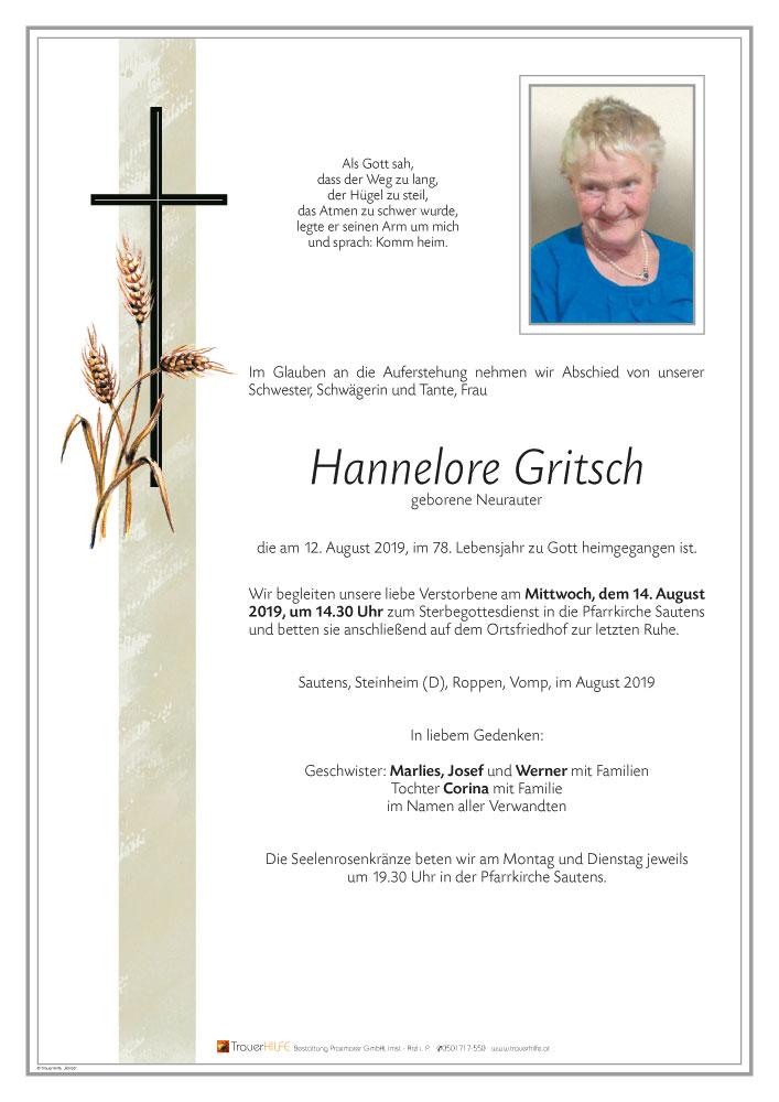Gritsch-Hannelore